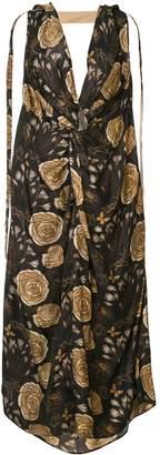 UMA WANG knot detail floral print dress