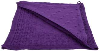 Camilla And Marc Baby's Only Hooded Bath Towel Braid Knitted 82 x 82 cm