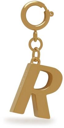 Mulberry Alphabet Brass Keyring - R Gold Zinc