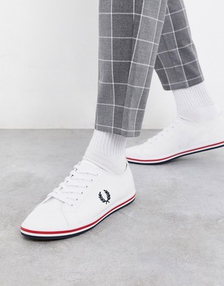 Fred Perry Kingston twill plimsolls in white