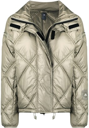 adidas by Stella McCartney Detachable Sleeves Quilted Padded Jacket