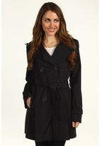 DKNY Hooded Trench 68602-YV (Black) - Apparel
