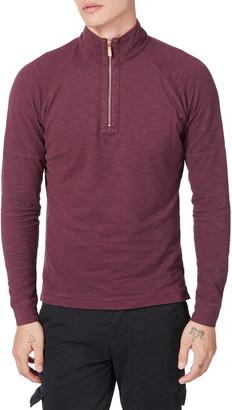 Good Man Brand Slim Fit Quarter Zip Slub Jersey Pullover