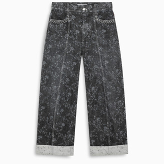 Chloé Printed high-waist jeans with lapels