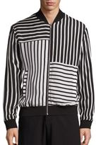 McQ by Alexander McQueen Striped Bomber Jacket