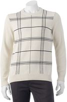 Croft & Barrow Men's Classic-Fit Windowpane 7GG Crewneck Sweater