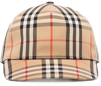 Burberry logo-patch Vintage Check baseball cap