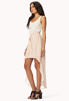 Forever 21 Floral Lace High-Low Dress