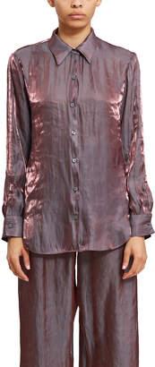 Callipygian Iridescent Button Front Shirt