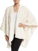Natori Faux-Fur Reversible Shawl, White