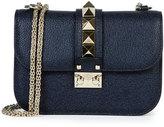 Valentino Rockstud Medium Chain Strap Shoulder Bag, Navy