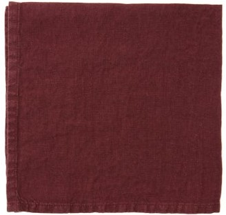 Once Milano - Set Of Four Linen Napkins - Dark Red
