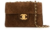 Chanel Pre Owned 1995's quilted CC jumbo XL chain shoulder bag