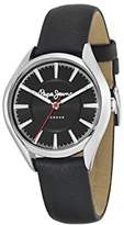 Pepe Jeans Charlie Women's Quartz Watch with Silver Dial Analogue Display and Black Leather Strap R2351105002