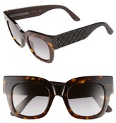 Bottega Veneta Women's 49Mm Sunglasses - Havana/ Black/ Smoke