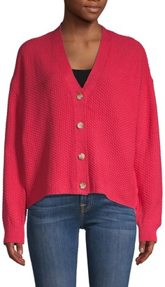 Willow & Clay Textured Cotton-Blend Cardigan