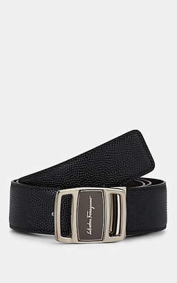 Salvatore Ferragamo Men's Vara-Buckle Reversible Leather Belt - Black