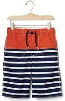 Gap Colorblock stripes board shorts