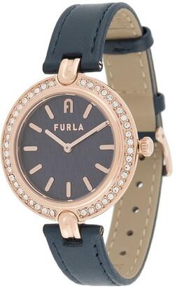 Furla Milano crystal round watch