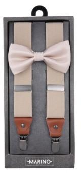 Mio Marino Men's Dashing Suspenders and Bow Tie Set