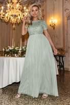 Quiz Sage Embellished Maxi Dress