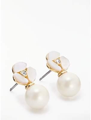 Kate Spade Pearl Drop Stud Earrings, Rose Gold/Cream