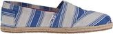 Toms Classic Slip-On Umbrella Navy Stripe Fabric