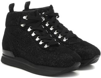 Hogan H222 metallic high-top sneakers