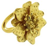 Kenneth Jay Lane Gold Plated Satin Flower Ring