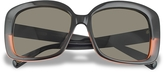 Marc Jacobs Black and Red Square Sunglasses