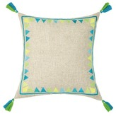 Trina Turk 20x20 Solona Embroidered Pillow - Blue/Green