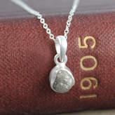 Embers Gemstone Jewellery Genuine Birthstone Silver Rough Diamond Necklace