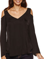 Bisou Bisou V-Neck Cold Shoulder Top