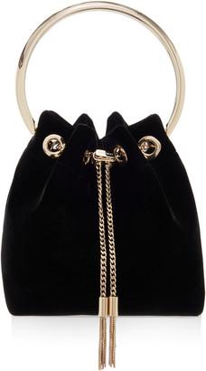 Jimmy Choo Bon Bon Velvet Top Handle Bag
