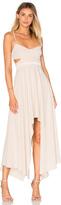 Halston Hi Low Asymmetric Dress