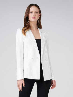 Forever New Eleanor pinstripe blazer - Pinstripe - 16
