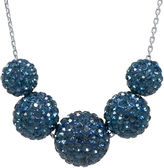 JCPenney FINE JEWELRY Crystal-Accent Sterling Silver Blue Fireball Bead Necklace