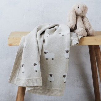 The White Company Organic Cotton Sheep Blanket, Natural, One Size