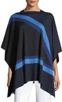 St. John Intarsia-Knit Jersey Poncho