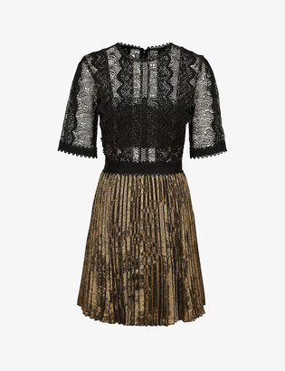 Reiss Athena lace woven dress
