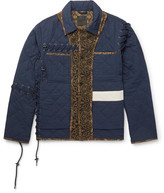 Craig Green Panelled Quilted Cotton Jacket - Navy