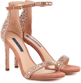 Stuart Weitzman Nudistsong embellished sandals