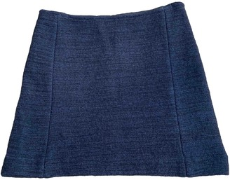 Claudie Pierlot Navy Cotton Skirt for Women