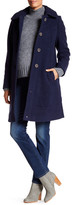 Kimi + Kai Carina Wool Blend Hooded A-Line Coat (Maternity)