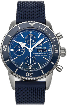 Breitling Blue Stainless Steel Superocean Heritage Chronograph A13313161C1S1 Men's Wristwatch 44 MM