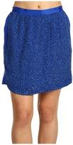 Robert Rodriguez Blocked Sequin Skirt (Cobalt) - Apparel