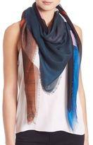 Givenchy Geometric Wool & Silk Scarf