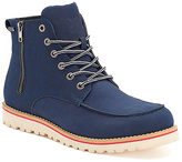 X-Ray Navy Monroe Side Zip Lace-Up Boot