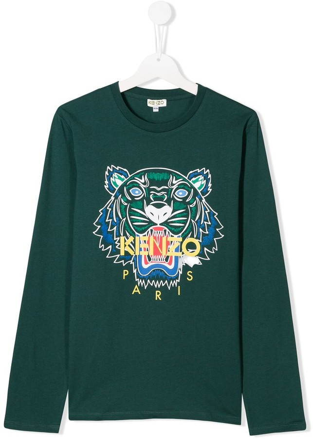 600f5c70 TEEN embroidered tiger sweatshirt