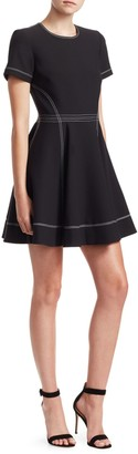 Cinq à Sept Bryce Short Sleeve Fit-and-Flare Dress